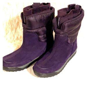 Women's Lands-end Purple Boot 7 1/2  Nwot